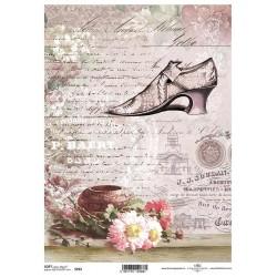 Papier do decoupage ITD SOFT 252 - Róże i bucik