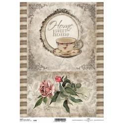 Papier do decoupage ITD SOFT 258 - Róża Home Sweet Home