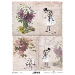 Papier do decoupage ITD SOFT 272 - Baletnica
