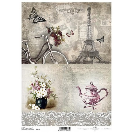 Papier do decoupage ITD SOFT 274 - Paryż