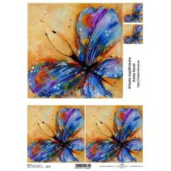 Papier do decoupage ITD SOFT 279 - Niebieskie motyle