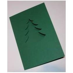 Kartka passe-partout choinka zielona