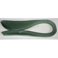 Paski do quillingu metaliczno-brokatowe 5mm/50 cm 50 sztuk zielone