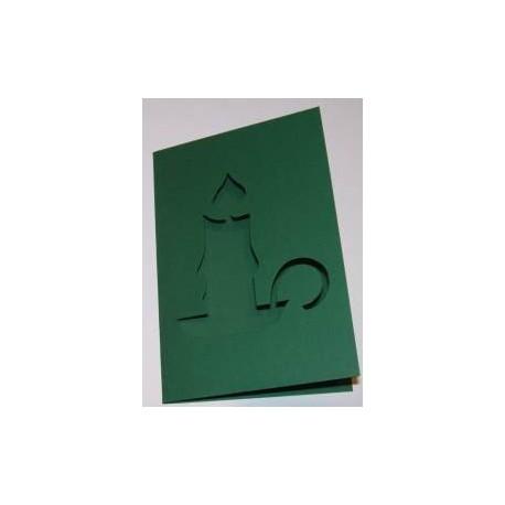 Kartka passe-partout świeca zielona