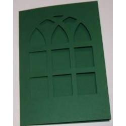 Kartka passe-partout witraż zielony