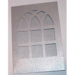Kartka passe-partout witraż srebrny błyszczący