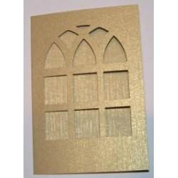 Kartka passe-partout witraż złoty błyszczący