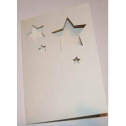 Kartka passe-partout gwiazdki białe