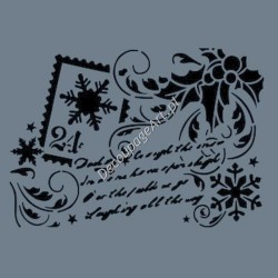 Szablon A4 Cadence AS503 - Świąteczne życzenia