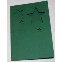 Kartka passe-partout gwiazdki zielone