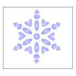Szablon GH 12 x 15 cm - 08 śnieżynka 1