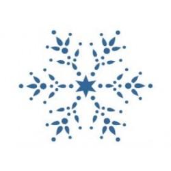 Szablon GH 12 x 15 cm - 48 Śnieżynka i gwiazdka