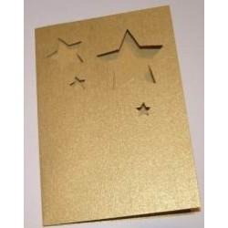 Kartka passe-partout gwiazdki złote błyszczące