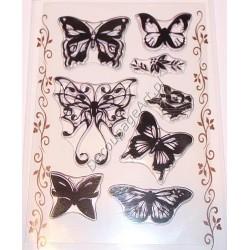 Komplet przezroczystych stempli - Motyle