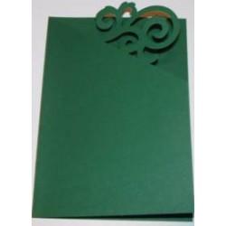 Kartka passe-partout ornament zielony