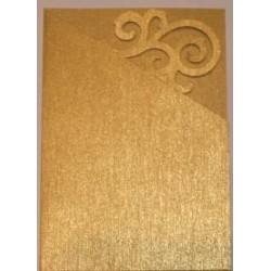 Kartka passe-partout ornament złota błyszcząca