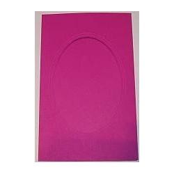 Kartka passe-partout oval duża różowa