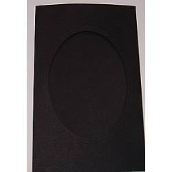 Kartka passe-partout oval duża czarna