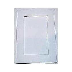 Kartka passe-partout prostokąt biała