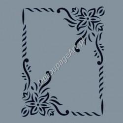 Szablon A4 Cadence AS495 - Ramka z kwiatami
