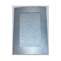 Kartka passe-partout prostokąt srebrna błyszcząca