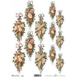 Papier ryżowy ITD Collection 086 Boże Narodzenie