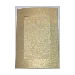 Kartka passe-partout prostokąt złota błyszcząca