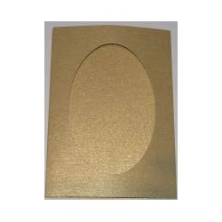 Kartka passe-partout oval złoto błyszcząca