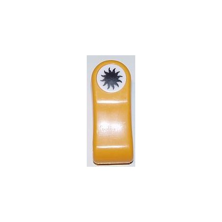 Ozdobne wytłaczanie papieru (embossing) - słońce
