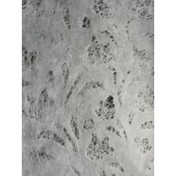Machined Papier - wytłaczany 50x75,5cm - biały tulipany