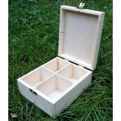Pudełko na herbatę x 4 z zatrzaskiem
