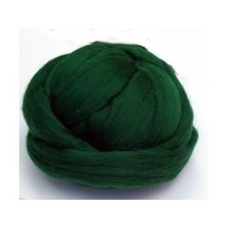Czesanka merynos australijski 10g - ciemniejszy-zielony