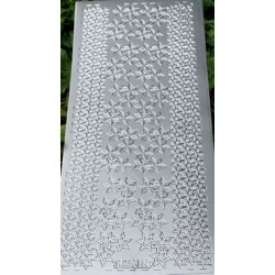 Naklejki samoprzylepne 701 śnieżynki srebrne
