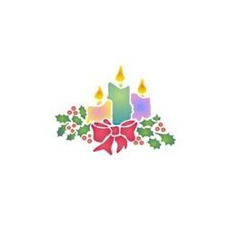 Szablon GH 12 x 15 cm - 05 świeczki