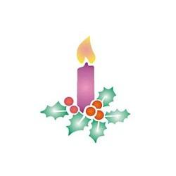 Szablon GH 12 x 15 cm - 06 świeczka