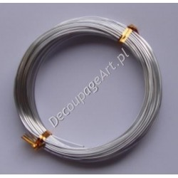 Drut jubilerski aluminiowy srebrny 1 mm/12 m