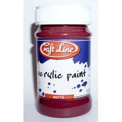 Farba akrylowa Craft Line 100 ml - ciemne bordo