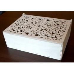Pudełko ażurowe drewniane 30