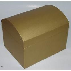 Kuferek z kartonu złoty 15 cm
