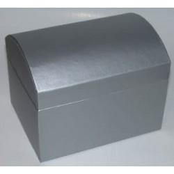 Kuferek z kartonu srebrny 13,5 cm