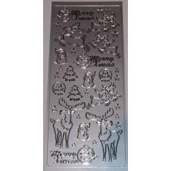 Naklejki samoprzylepne renifery srebrne