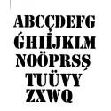 Szablon 15x20 cm - 1024 niemiecki alfabet