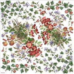 Serwetki ryżowe (papier ryżowy) do decoupage bluszczyk i kwiaty