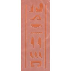Szablon laserowy 6 x 13,5 cm - hieroglify z