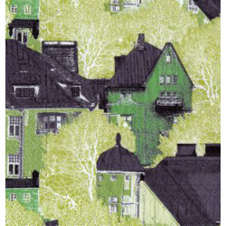 Serwetki do decoupage - zielone domy