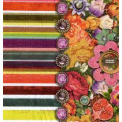 Serwetki do decoupage - Kwiaty i paski