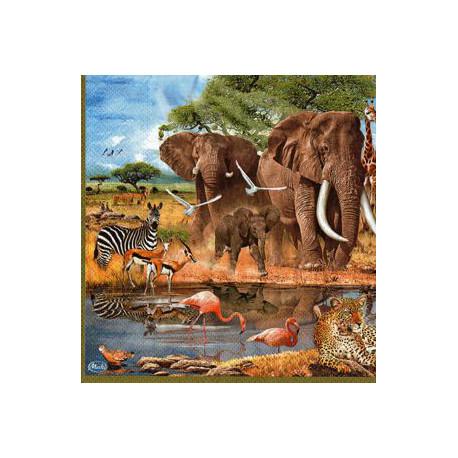 Serwetki do decoupage - słonie