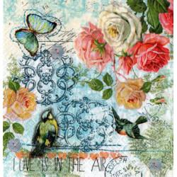 Serwetki do decoupage - róże i ornamenty