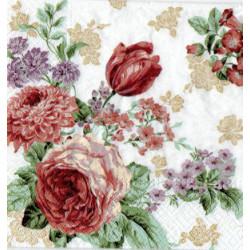 Serwetki do decoupage - bukiet wiosennych kwiatów