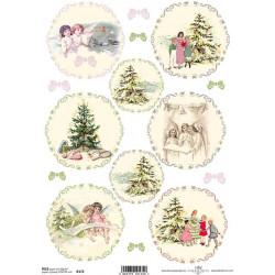 Papier ryżowy ITD Collection 456 - Świąteczne dzieci